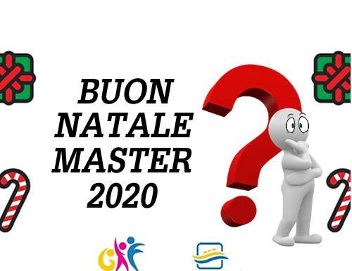 Buon Natale Master 2020 e il sondaggio del 'Gruppo in Forma'