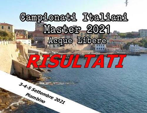 Campionati Italiani Master Acque Libere Piombino 2021: Risultati