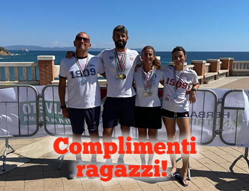 Successo della Rari Nantes Cagliari nei Campionati Italiani Acque Libere 2021